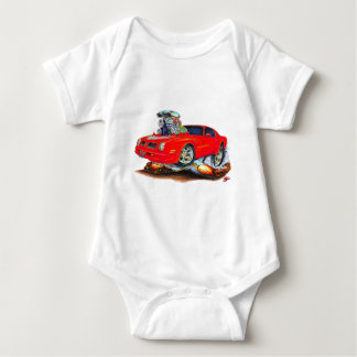 1974-76 Trans Am Red Car Baby Bodysuit
