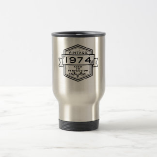 1974 Aged To Perfection 15 Oz Stainless Steel Travel Mug
