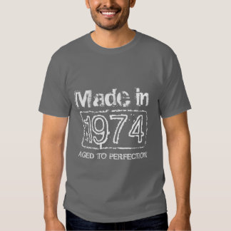 1974 Aged to perfection t shirt for men's Birthday