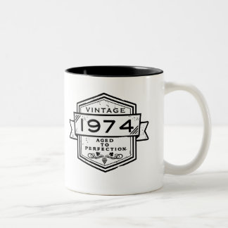 1974 Aged To Perfection Two-Tone Coffee Mug