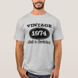 1974 Aged to perfection | Vintage Birthday t shirt