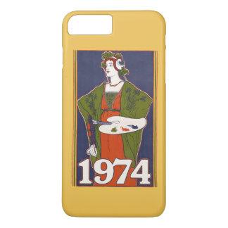 1974 birthday retro painting iPhone 8 plus/7 plus case