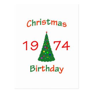 1974 Christmas Birthday Postcard