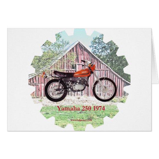 1974 Classic Motorcycle Yamaha 250 Card