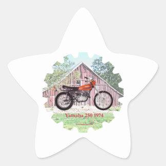 1974 Classic Motorcycle Yamaha 250 Star Sticker