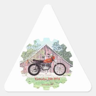 1974 Classic Motorcycle Yamaha 250 Triangle Sticker