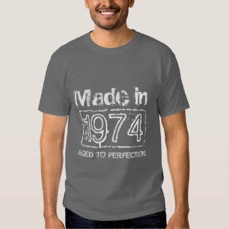 1974 envejecido a la camiseta de la perfección polera