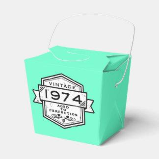 1974 envejecido a la perfección caja para regalos de fiestas
