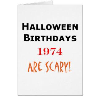 1974 halloween birthday card