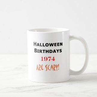 1974 halloween birthday coffee mug