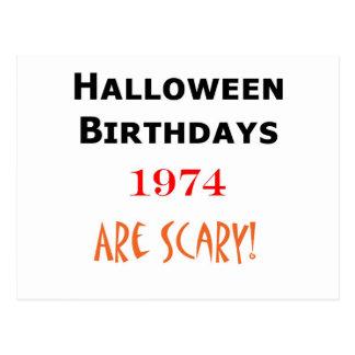 1974 halloween birthday postcard