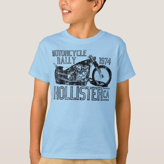 1974 Motorcycle Rally (vintage blk) T-Shirt
