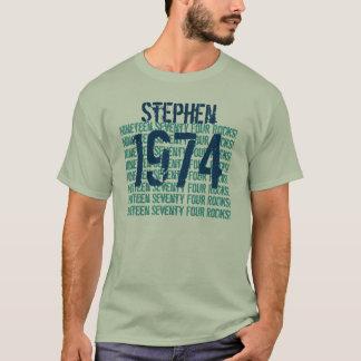 1974 o cualesquiera cumpleaños 1974 del año 40.o playera