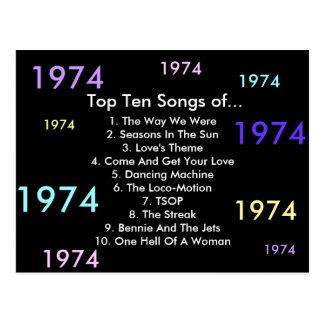 1974 Songs Postcard