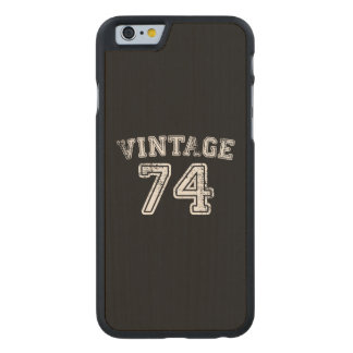 1974 Vintage Jersey Carved® Maple iPhone 6 Slim Case