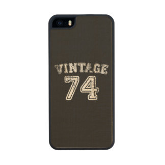 1974 Vintage Jersey Carved® Maple iPhone 5 Case
