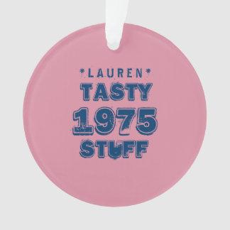 1975 40th Birthday TASTY STUFF Grunge Pink J40Z Ornament