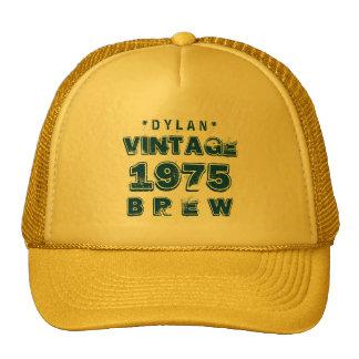 1975 40th or Any Birthday VINTAGE BREW Gold J30BZ Trucker Hat