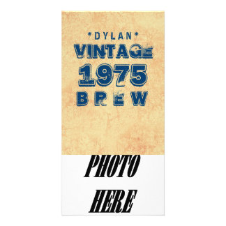 1975 40th or Any Birthday VINTAGE BREW Gold J30BZ Photo Card