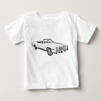 1975 Cadillac Eldorado Convertible Illustration Baby T-Shirt