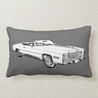 1975 Cadillac Eldorado Convertible Illustration Pillow