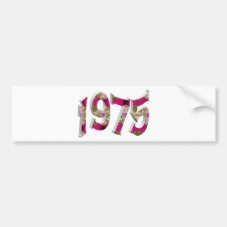 1975 PEGATINA DE PARACHOQUE
