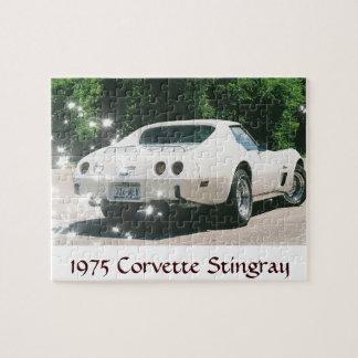 1975 Corvette in White Puzzle
