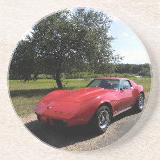 1975 Corvette Sandstone Drink Coaster
