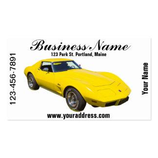 1975 Corvette Stingray Sports Car Business Card