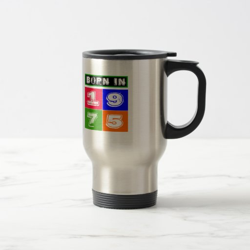 1975 diseños del cumpleaños taza de café