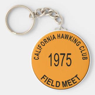 1975 Los Banos Basic Round Button Keychain