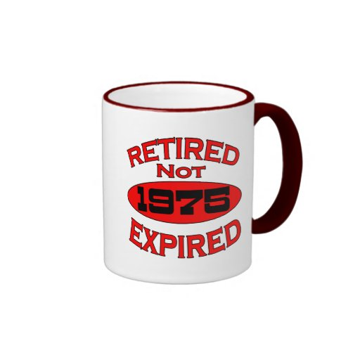 1975 Retirement Year Ringer Coffee Mug