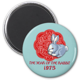 1975 The Year of the Rabbit Gifts 2 Inch Round Magnet