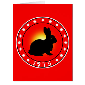 1975 Year of the Rabbit Card