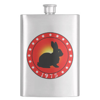 1975 Year of the Rabbit Hip Flask