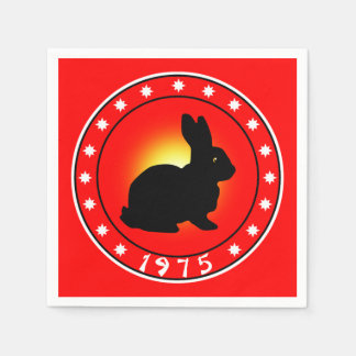 1975 Year of the Rabbit Paper Napkin