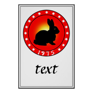 1975 Year of the Rabbit Poster