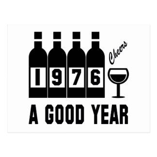 1976 A Good Year Postcard