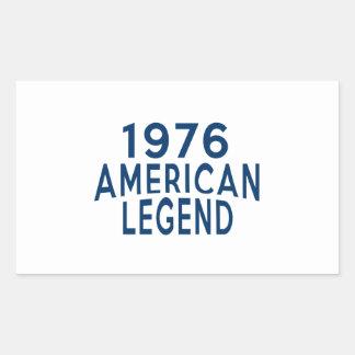 1976 American Legend Birthday Designs Rectangular Sticker