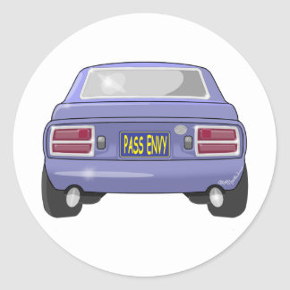 1976 Datsun 280Z Pass Envy Classic Round Sticker
