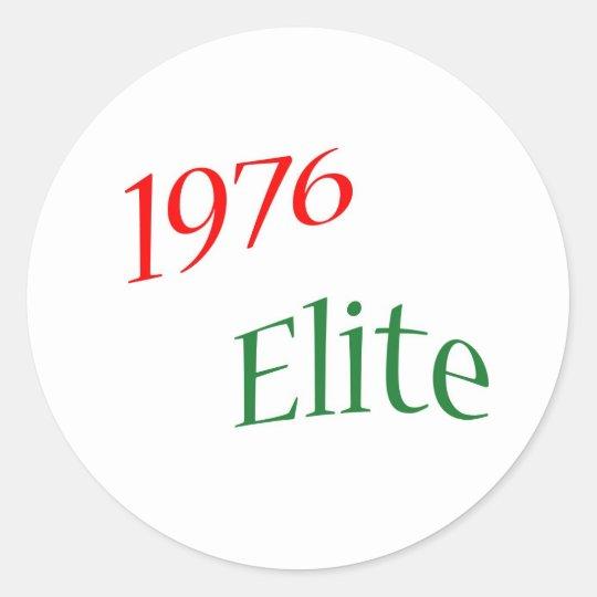 1976 Elite Classic Round Sticker