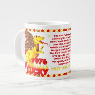 1976 FireDragon born in Aries by Valxart Large Coffee Mug
