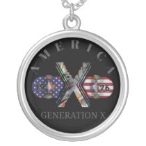 1976 Generation X American Skateboard Silver Plated Necklace