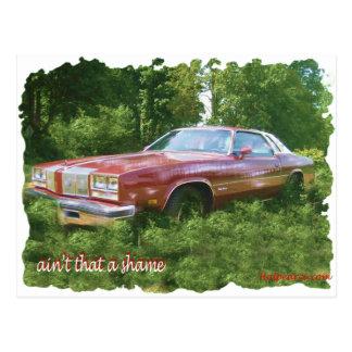 1976 Oldsmobile Cutlass Supreme Coupe. Postcard
