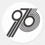 1976 PEGATINA REDONDA