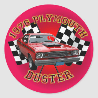 1976 Plymouth Duster Stickers. Classic Round Sticker
