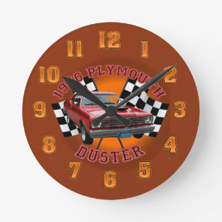 1976 Plymouth Duster Wall Clock. Round Clock