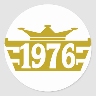 1976-Royal.png Classic Round Sticker