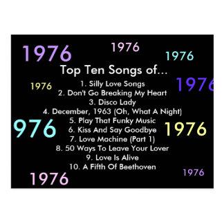1976 Songs Postcard