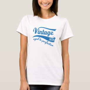 1976 Vintage Aged To Perfection 40th Birthday Gift T Shirt